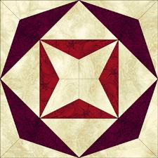 Free four point star quilt block pattern