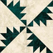 Free pinwheel quilt block pattern