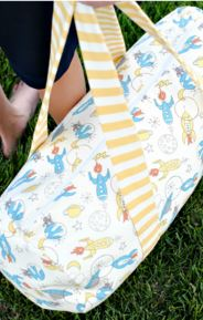 Child duffle bag free sewing pattern