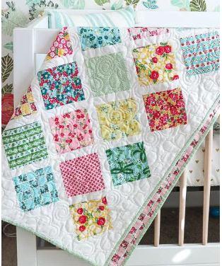 Lattice design baby quilt free pattern