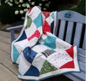 Triangle quilt from layer cake fabric free pattern