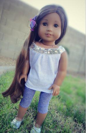 American girl 18 inch doll capri leggings free sewing pattern