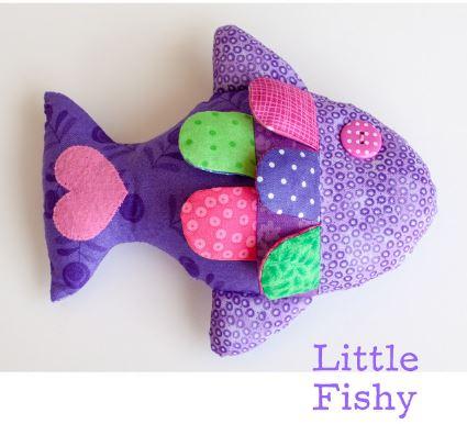Simple fish stuffed animal free sewing pattern