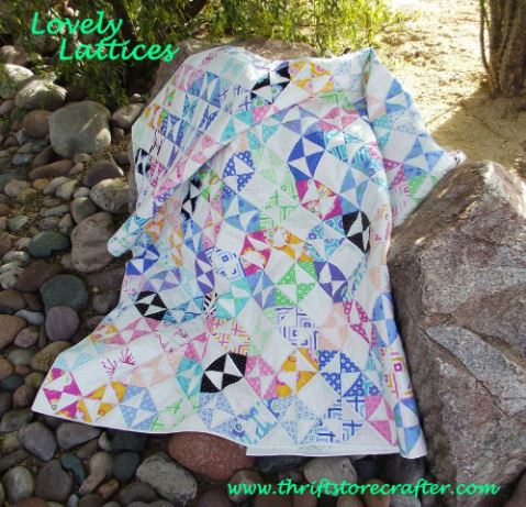 Scrap quilt with triangles free pattern