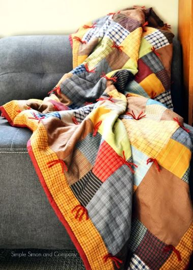 Flannel quilt from squares free pattern