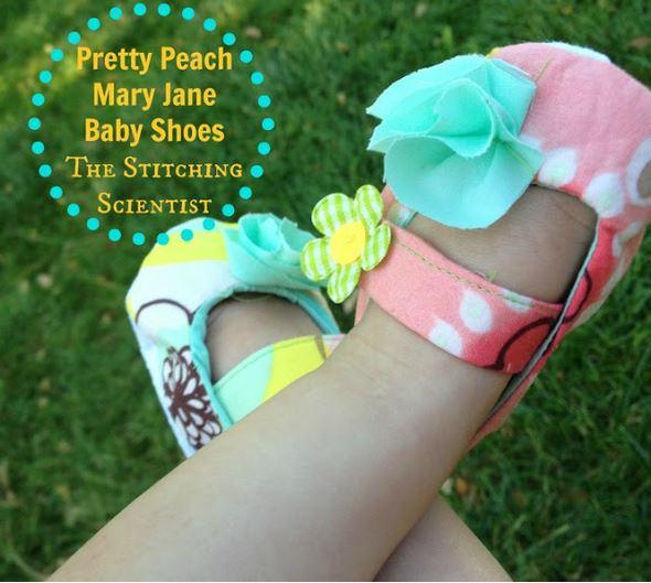 Mary Jane soft fabric baby shoe free sewing pattern