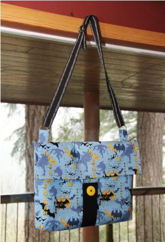 Large messenger bag free sewing pattern
