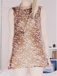 Womens sleeveless short shift dress free sewing pattern