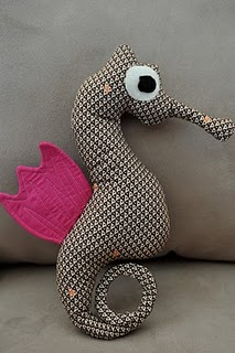 Simple easy seahorse free stuffed animal sewing pattern