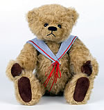 Jointed Nelson vintage teddy bear free sewing pattern