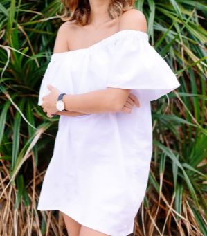 Womens off the shoulder short summer dress sewing pattern