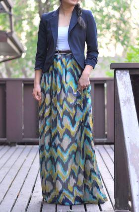 Women's long maxi dress free sewing pattern