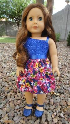 American girl 18 inch doll off the shoulder dress free sewing pattern