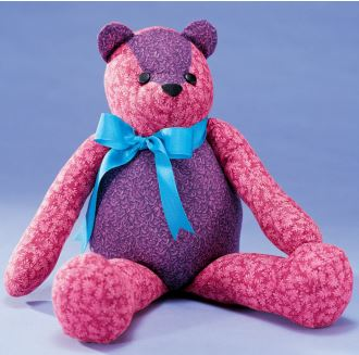 Free fabric teddy bear sewing pattern