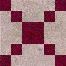 Simple square free quilt block pattern