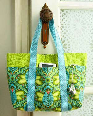 tote bag with outside pocket sewing pattern