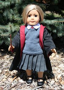 American girl 18 inch doll Harry Potter pleated skirt free sewing pattern