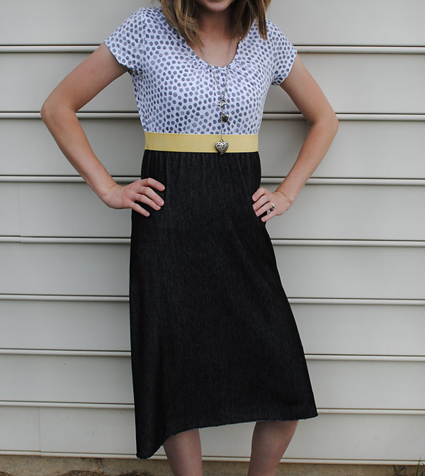 Womens casual short sleeve high waisted dress sewing pattern