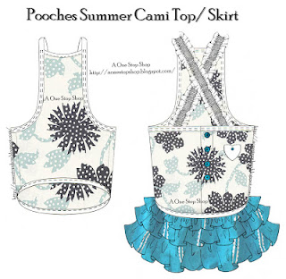Dog top and skirt with ruffles sewing pattern