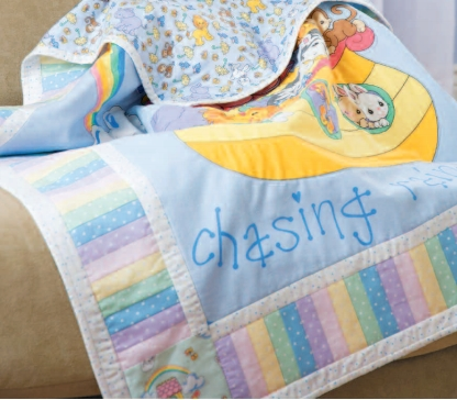 Baby quilt with applique free pattern