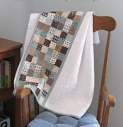 Baby boy checkered quilt free pattern
