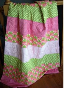 Quick and easy striped baby quilt free pattern