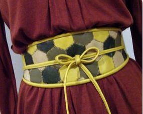 Womens quilted belt