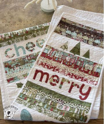 Quilted Christmas table runner free pattern