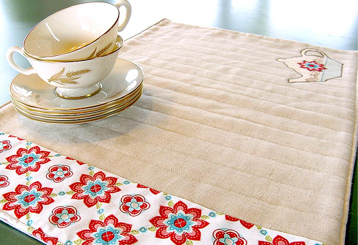Simple Quilted Placemats free sewing pattern