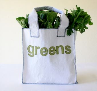 Shopping or grocery tote bag free sewing pattern