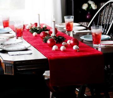 Easy velvet holiday table runner free pattern