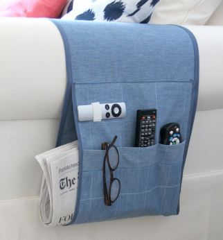 Armchair caddy for remote control free sewing pattern