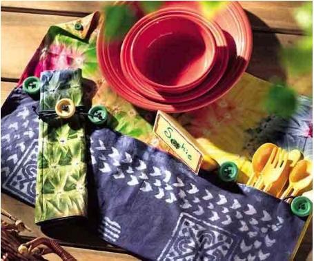 Fabric placemats from bandana free sewing pattern