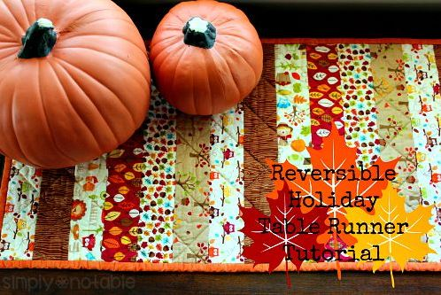 Quilted fall table runner from jelly roll strips free sewing pattern