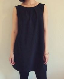 Womens wide neck sleeveless reversible shift dress free sewing pattern