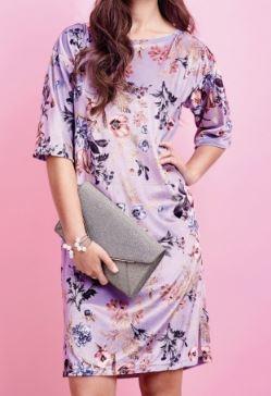 Womens short sleeve wide neck shift dress free sewing pattern