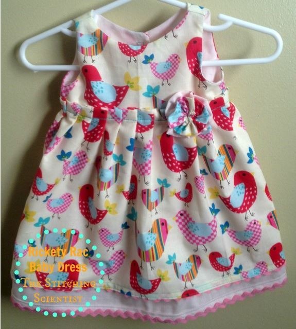 Sleeveless baby dress with ric rac trim free sewing pattern