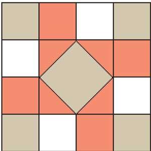Rotation free quilt block pattern