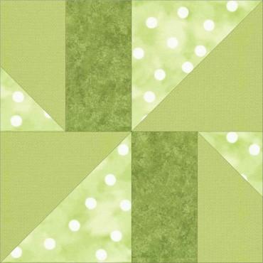 Modern pinwheel free quilt block pattern