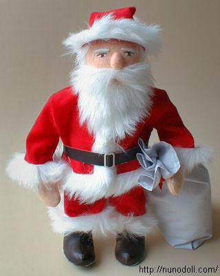 Santa Claus fabric doll free sewing pattern