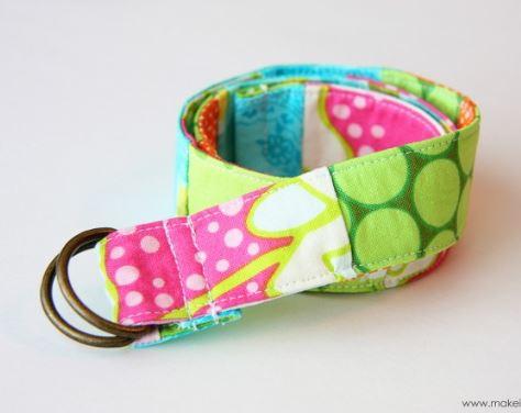 Fabric scrap pieced belt free sewing pattern