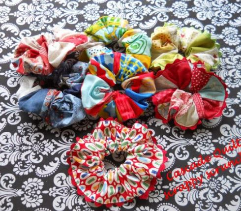 Scrunchies from fabric scraps free sewing pattern