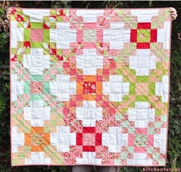 Patchwork baby quilt free pattern