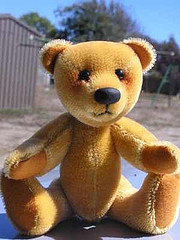 Jointed short fur teddy bear free sewing pattern
