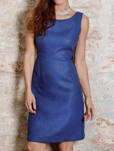 Womens sleeveless wide neck shift dress free sewing pattern