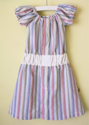 Girls dress from old shirt free sewing tutorial