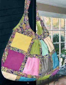 Patchwork hobo bag free sewing pattern