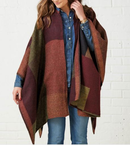 Simple easy poncho cape free sewing pattern