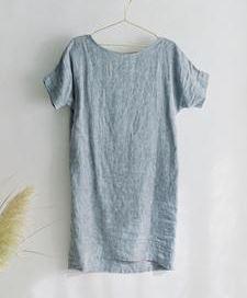 Womens simple short sleeve shift dress