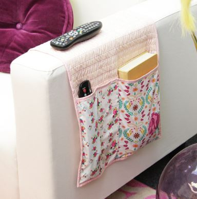 Sofa armchair organizer for remote free sewing pattern